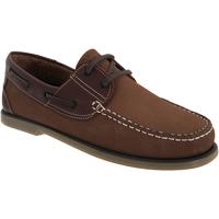 Schoenen Heren Bootschoenen Dek Moccasin Bruin Nubuck/Leder