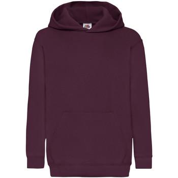 Textiel Kinderen Sweaters / Sweatshirts Fruit Of The Loom Hooded Bordeaux