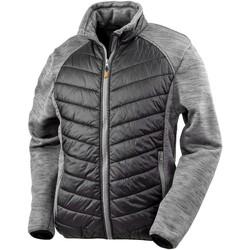 Textiel Heren Dons gevoerde jassen Result Work Zwart/Grijze Marl