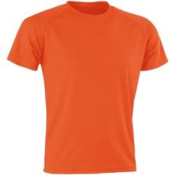 Textiel Heren T-shirts korte mouwen Spiro Aircool Oranje