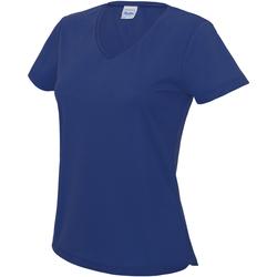 Textiel Dames T-shirts korte mouwen Awdis Girlie Koningsblauw