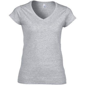 Textiel Dames T-shirts korte mouwen Gildan Soft Style Sportgrijs (RS)