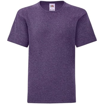 Textiel Kinderen T-shirts korte mouwen Fruit Of The Loom Iconic Heather Paars