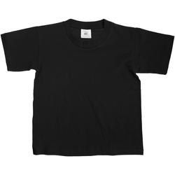 Textiel Kinderen T-shirts korte mouwen B And C Exact 150 Zwart