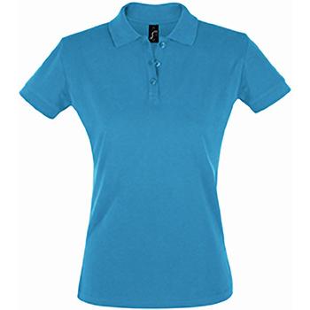 Textiel Dames Polo's korte mouwen Sols 11347 Aqua
