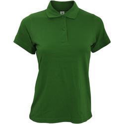 Textiel Dames Polo's korte mouwen B And C Safran Donker Groen