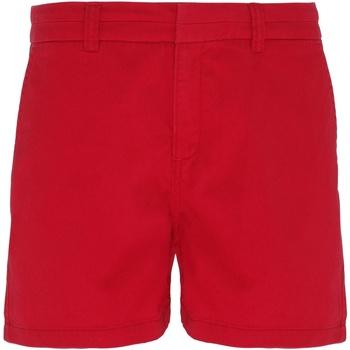 Textiel Dames Korte broeken / Bermuda's Asquith & Fox Classic Kersenrood