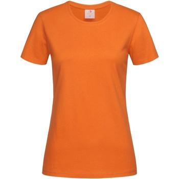 Textiel Dames T-shirts korte mouwen Stedman Classics Oranje