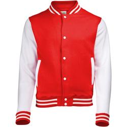 Textiel Kinderen Wind jackets Awdis Varsity Brand rood/wit