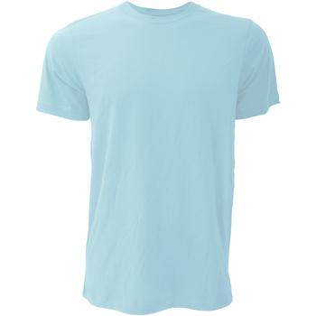 Textiel Heren T-shirts korte mouwen Bella + Canvas Jersey Heather Ijs Blauw