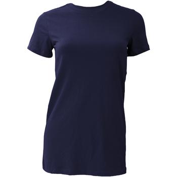 Textiel Dames T-shirts korte mouwen Bella + Canvas BE6004 Marineblauw