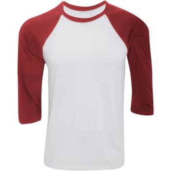 Textiel Heren T-shirts met lange mouwen Bella + Canvas Baseball Wit/rood