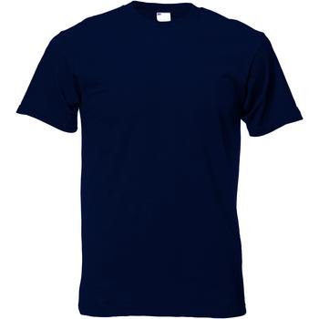 Textiel Heren T-shirts korte mouwen Universal Textiles 61082 Middernacht blauw