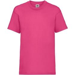 Textiel Kinderen T-shirts korte mouwen Fruit Of The Loom 61033 Fuchsia