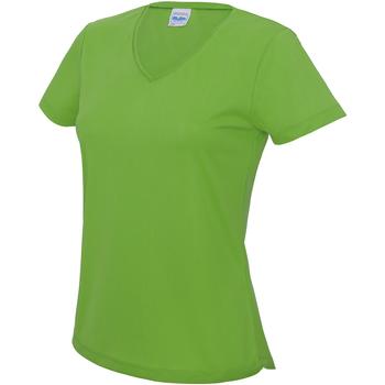 Textiel Dames T-shirts korte mouwen Awdis Girlie Kalk groen