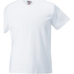 Textiel Kinderen T-shirts korte mouwen Jerzees Schoolgear Classics Wit