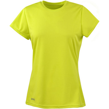 Textiel Dames T-shirts korte mouwen Spiro Performance Kalk groen