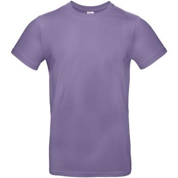 Textiel Heren T-shirts korte mouwen B And C E190 Duizendjarige Lila