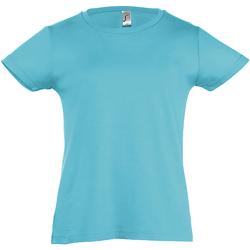 Textiel Meisjes T-shirts korte mouwen Sols Cherry Blauw Atol