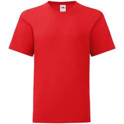 Textiel Kinderen T-shirts korte mouwen Fruit Of The Loom Iconic Rood