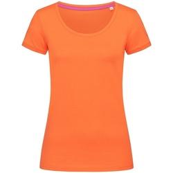 Textiel Dames T-shirts korte mouwen Stedman Stars Megan Pompoen