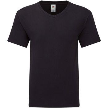 Textiel Heren T-shirts korte mouwen Fruit Of The Loom Original Zwart