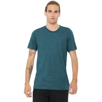 Textiel Heren T-shirts korte mouwen Bella + Canvas Triblend Staalblauw Triblend