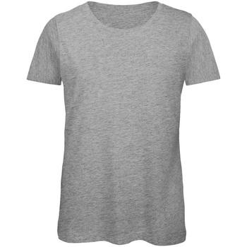 Textiel Dames T-shirts korte mouwen B And C TW043 Sportgrijs