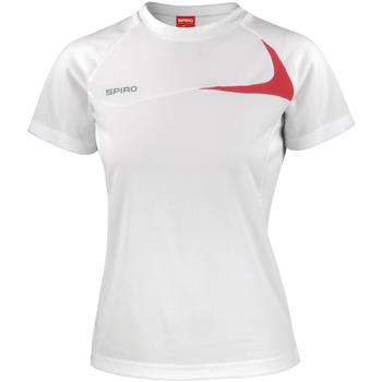 Textiel Dames T-shirts korte mouwen Spiro Performance Wit/rood