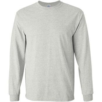 Textiel Heren T-shirts met lange mouwen Gildan 2400 Asgrijs