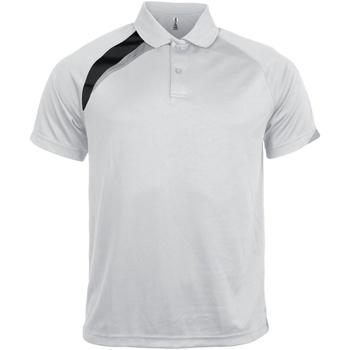 Textiel Heren Polo's korte mouwen Kariban Proact Proact Wit/ Zwart / Stormgrijs