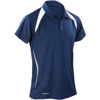 Textiel Heren Polo's korte mouwen Spiro Performance Marine / Wit