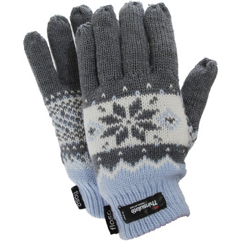 Accessoires Dames Handschoenen Floso Fairisle Blauw