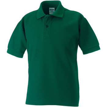 Textiel Jongens Polo's korte mouwen Jerzees Schoolgear Pique Fles groen