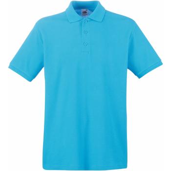 Textiel Heren Polo's korte mouwen Fruit Of The Loom Premium Azure Blauw