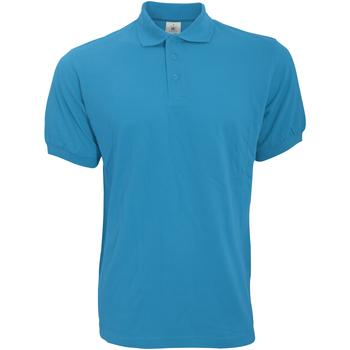 Textiel Heren Polo's korte mouwen B And C Safran Blauw