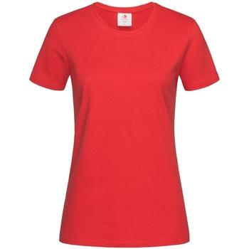 Textiel Dames T-shirts korte mouwen Stedman Comfort Rood