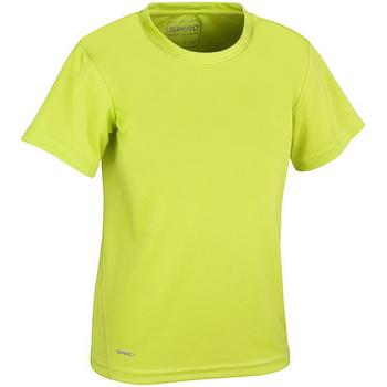 Textiel Jongens T-shirts korte mouwen Spiro S253J Kalk groen