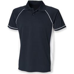 Textiel Heren Polo's korte mouwen Finden & Hales LV310 Marine / Wit