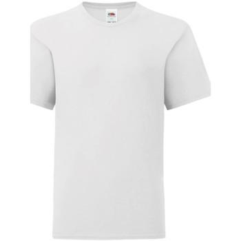 Textiel Kinderen T-shirts korte mouwen Fruit Of The Loom Iconic Wit