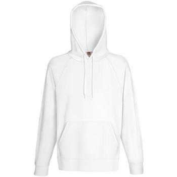 Textiel Heren Sweaters / Sweatshirts Fruit Of The Loom Lightweight Wit
