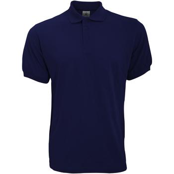 Textiel Heren Polo's korte mouwen B And C Safran Marine Blauw