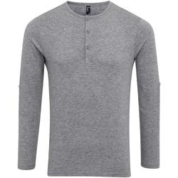 Textiel Heren T-shirts met lange mouwen Premier Long John Grijze Mergel