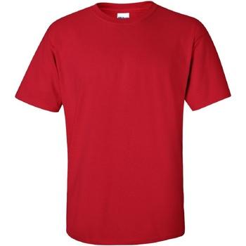 Textiel Heren T-shirts korte mouwen Gildan Ultra Kersenrood