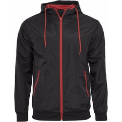 Textiel Heren Wind jackets Build Your Brand Wind Runner Zwart/Rood