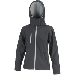 Textiel Dames Wind jackets Result Hooded Zwart/Grijs