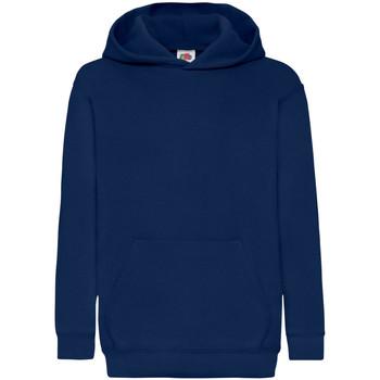 Textiel Kinderen Sweaters / Sweatshirts Fruit Of The Loom Hooded Marine