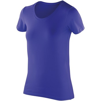 Textiel Dames T-shirts korte mouwen Spiro Softex Saffier