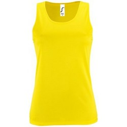 Textiel Dames Mouwloze tops Sols Performance Neon geel