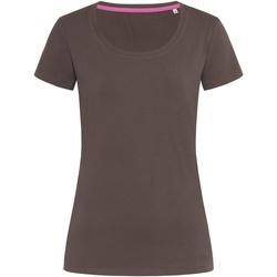 Textiel Dames T-shirts korte mouwen Stedman Stars Claire Donkere chocolade bruin